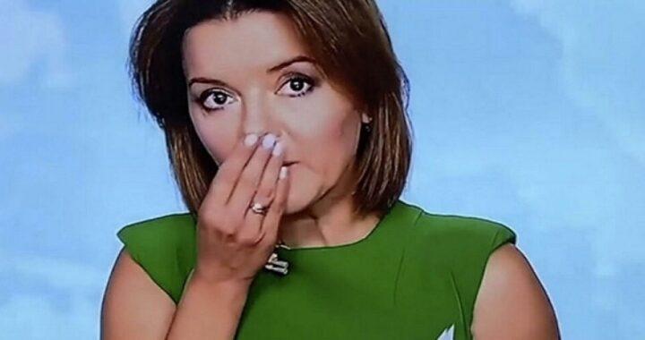 giornalista ucraina perde un dente in diretta TV