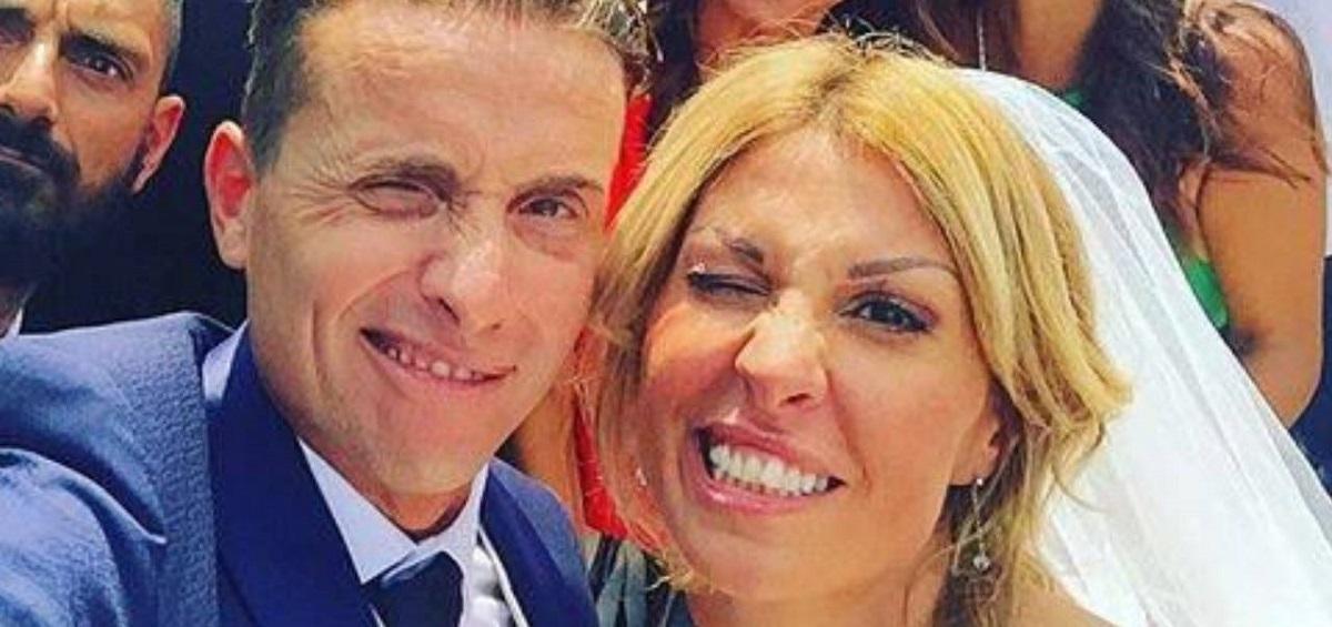 Angelo Pintus e la moglie