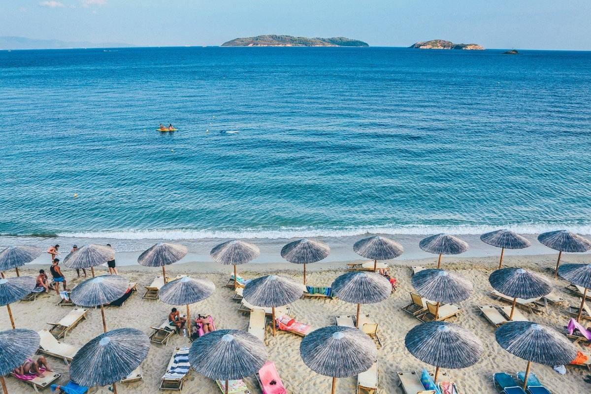 spiaggia ombrelloni