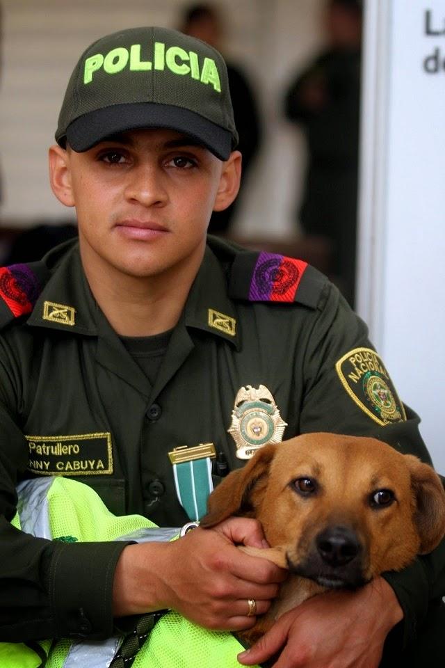 La polizia salva un cane a Bogotà