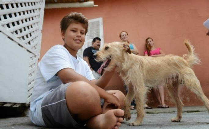 Undicenne salva il cane