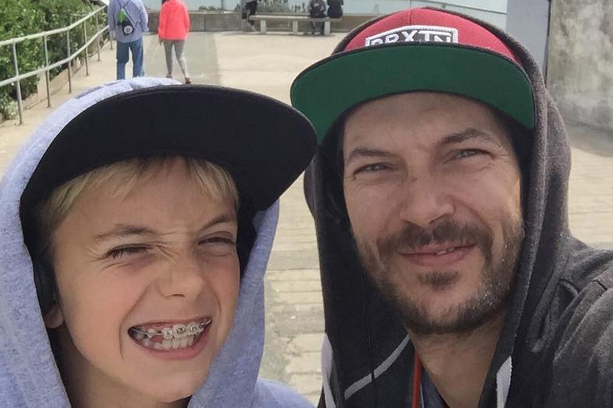 Kevin Federline e un figlio
