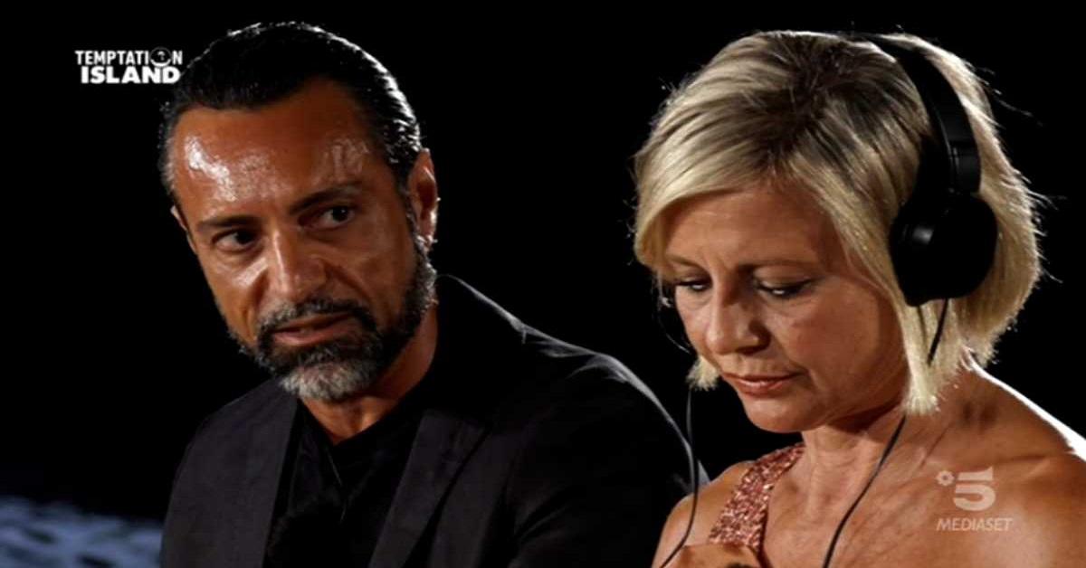 Temptation Island falò di confronto tra Antonella Elia e Pietro Delle Piane