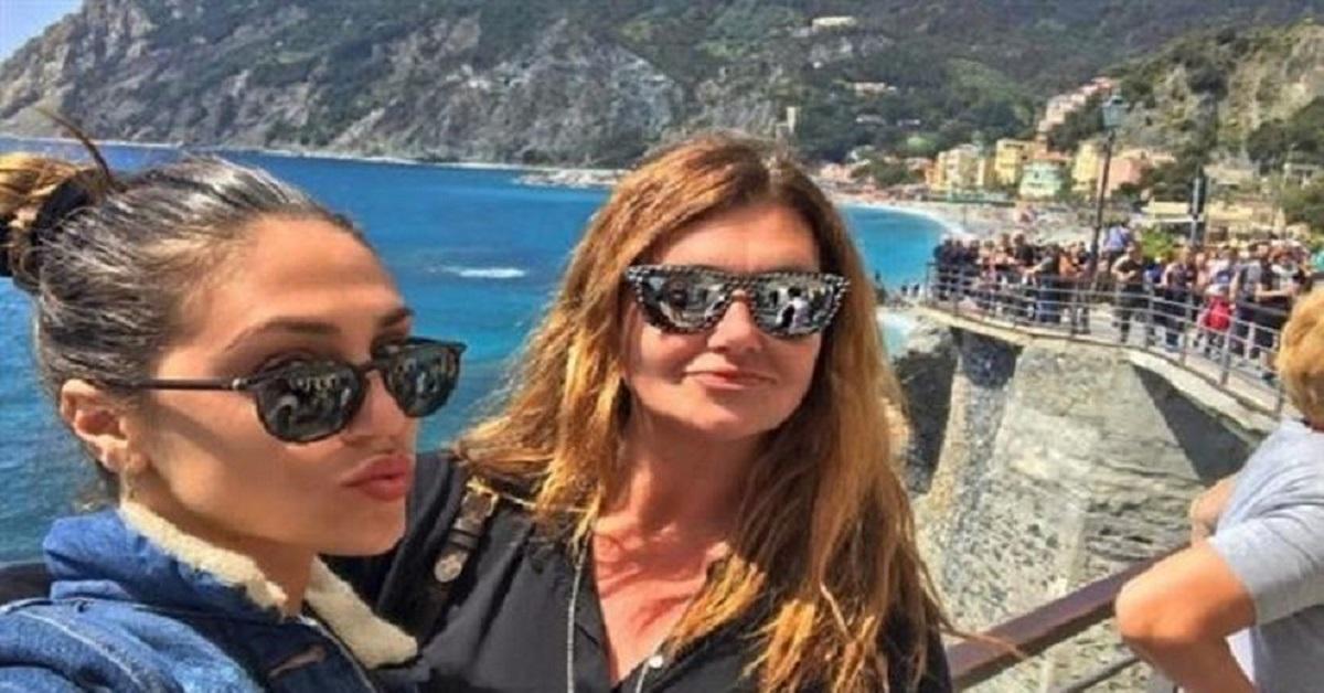 Belen Rodriguez e la mamma