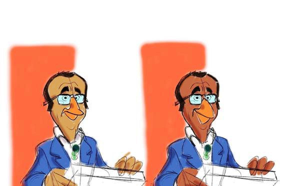 Carlo Conti cartone animato
