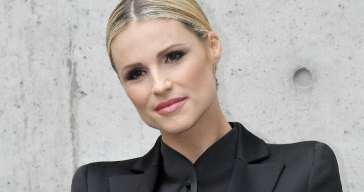 Michelle Hunziker total look Elisabetta Franchi
