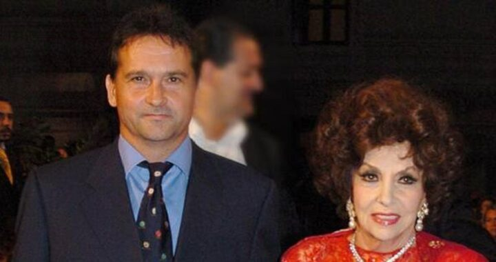 Gina Lollobrigida e il figlio