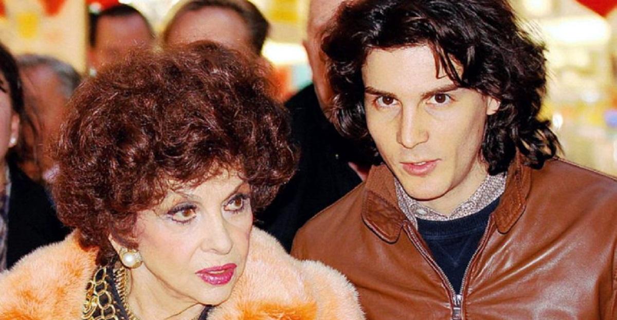 Gina Lollobrigda e il figlio