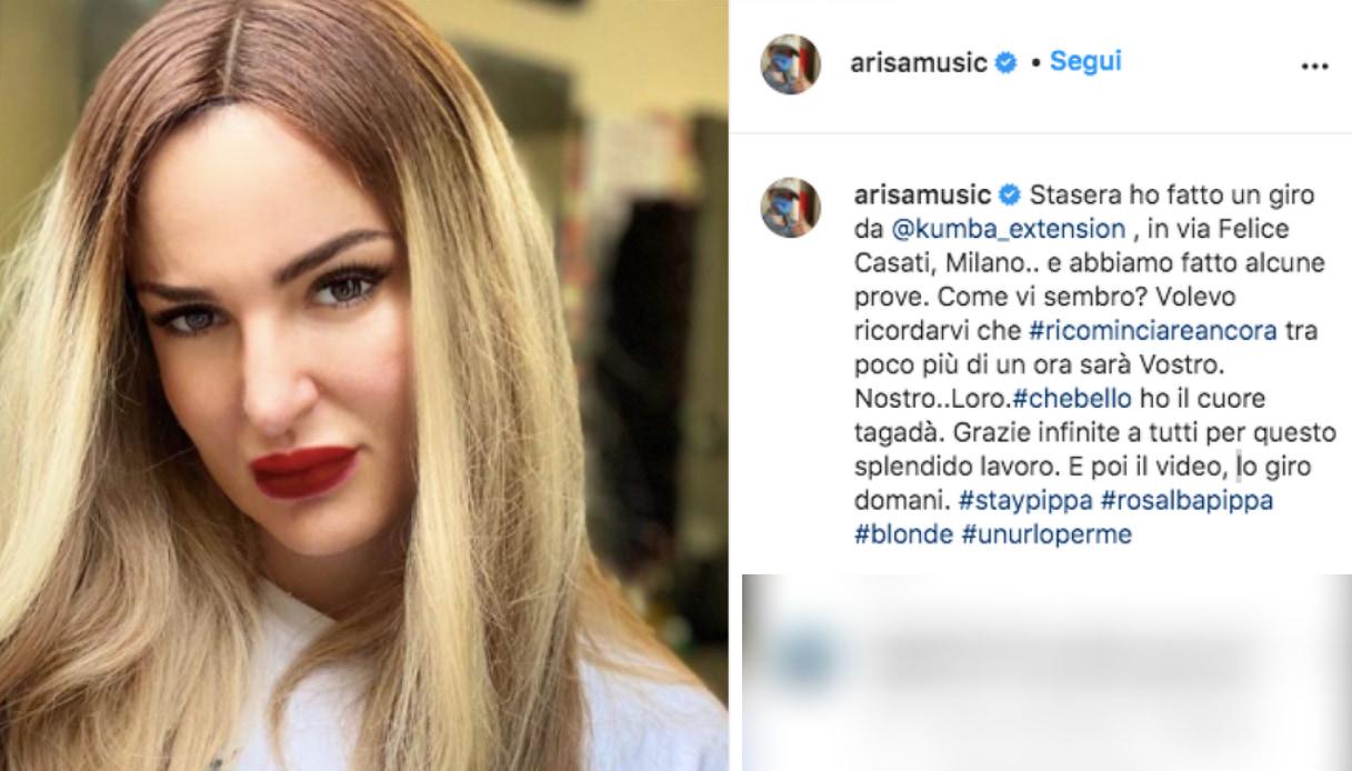 Arisa su Instagram