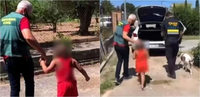 Bambina trovata per strada