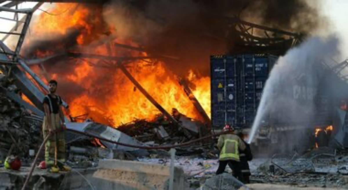 esplosione e incendio