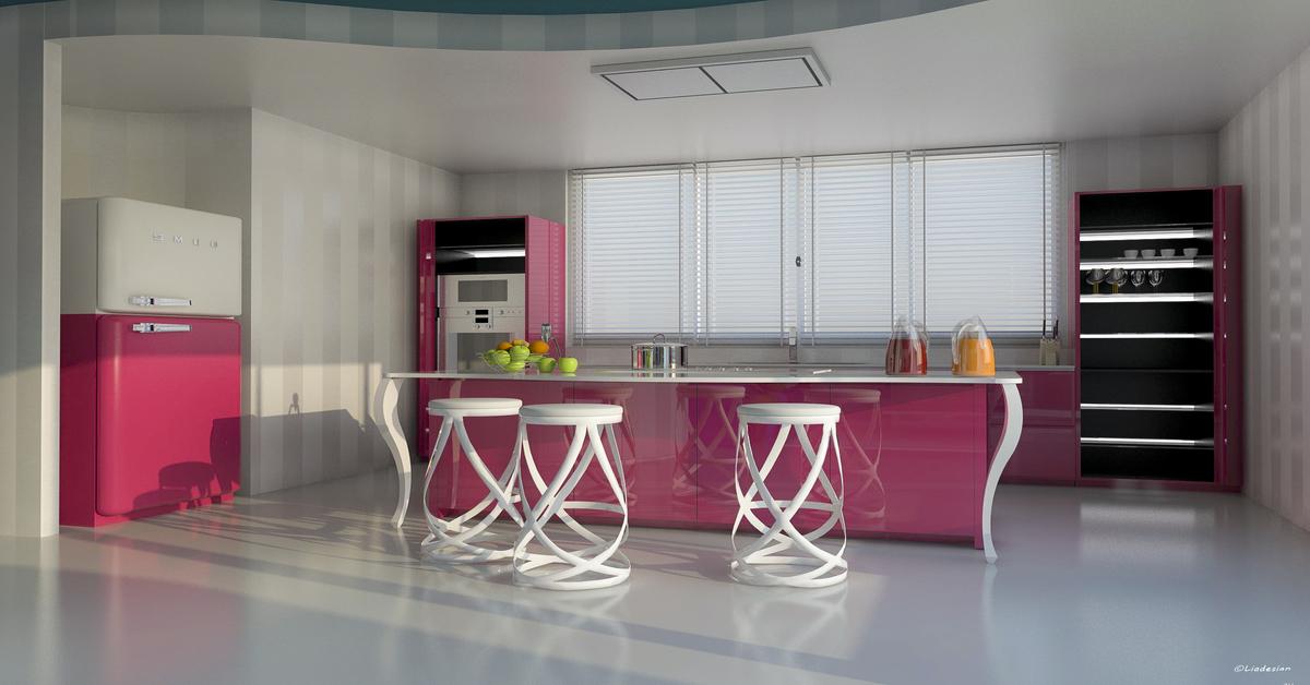 cucina rosa