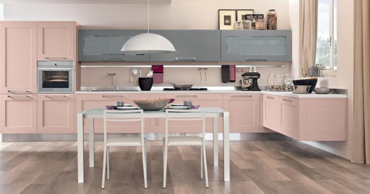 cucina rosa pastello