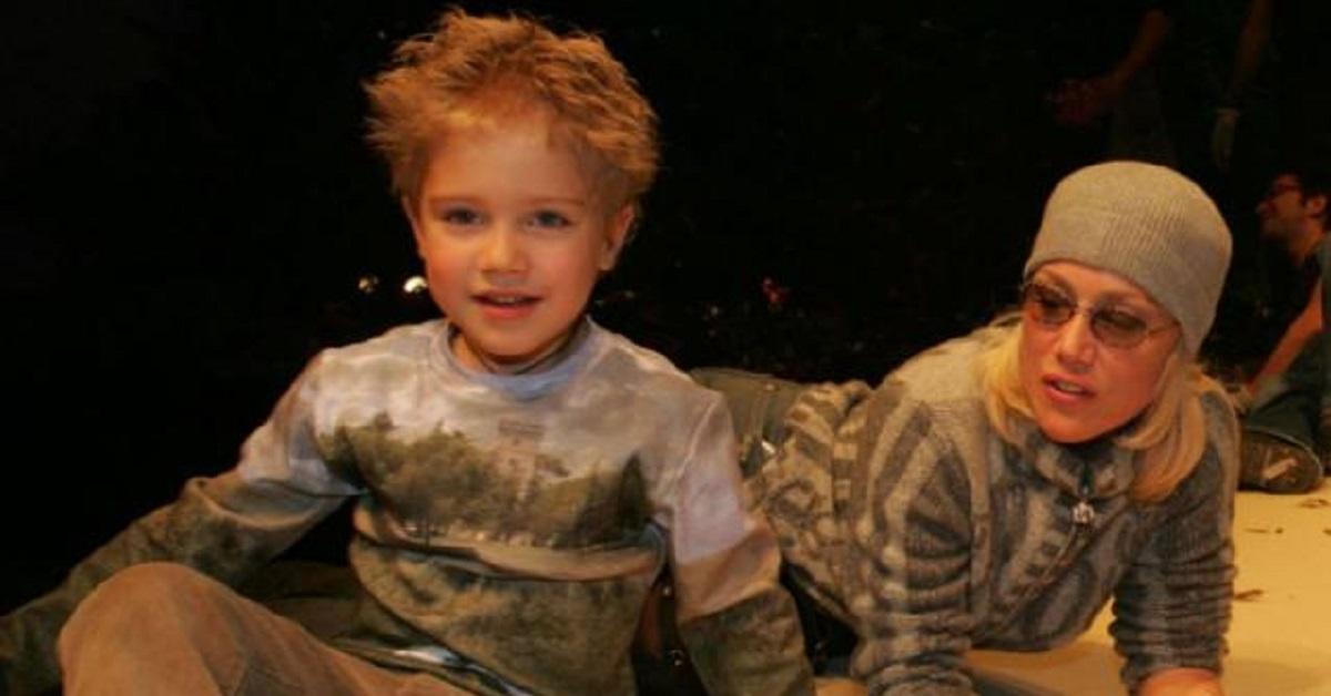 Nancy Brilli e il figlio