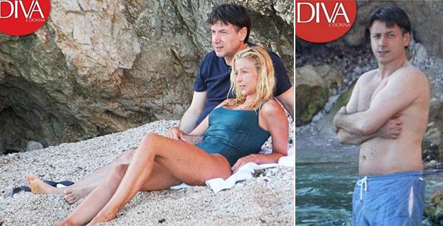 Il premier e Olivia Paladino al mare