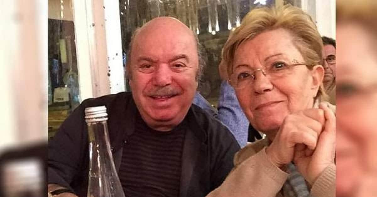 Lino Banfi a cena con la moglie