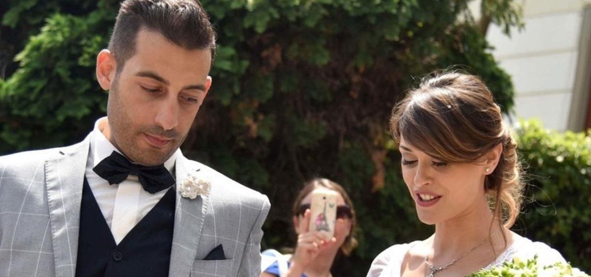 Fatima Trotta e il marito