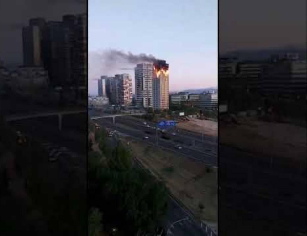 grattacielo in fiamme