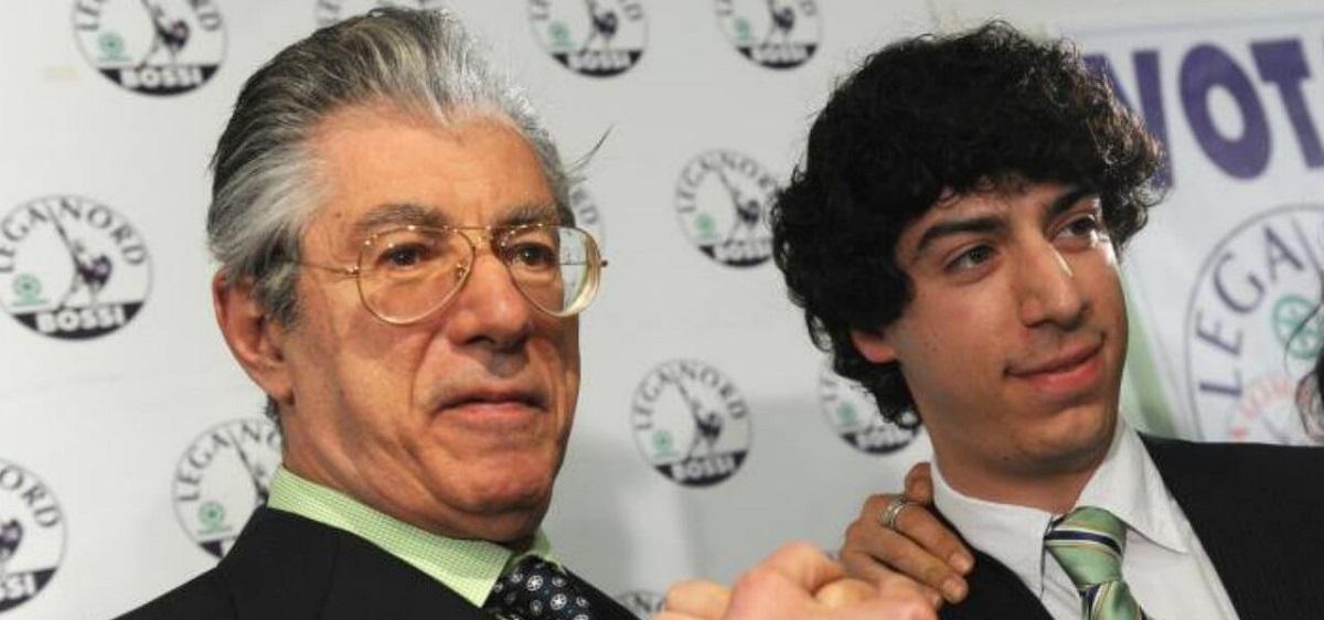 Umberto Bossi e il figlio