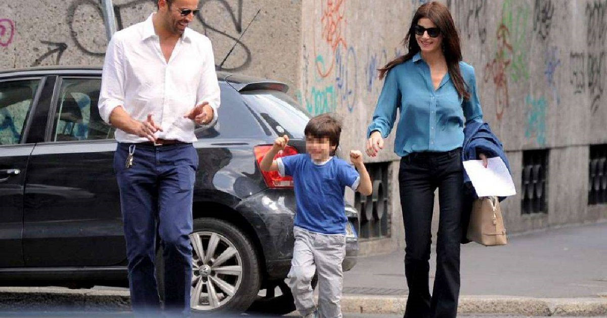 Ilaria D'Amico, il figlio e l'ex