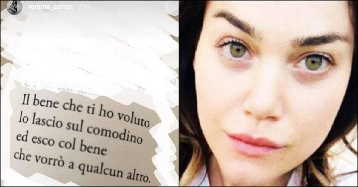 Romina Carrisi soffre? Un messaggio allerta i fan