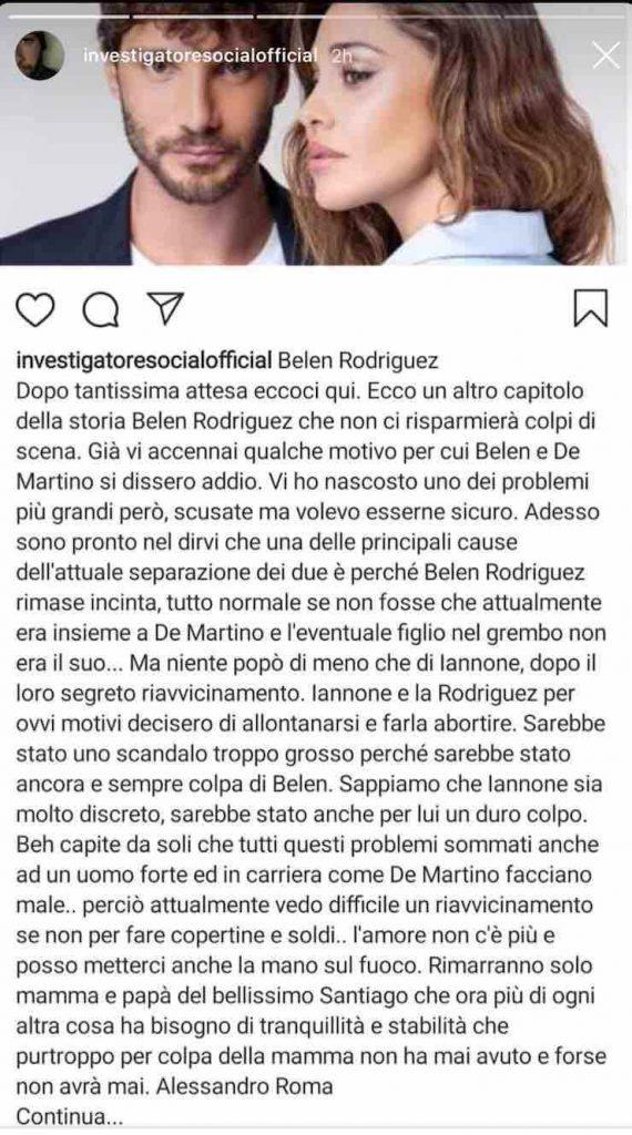 Alessandro roma aborto belen