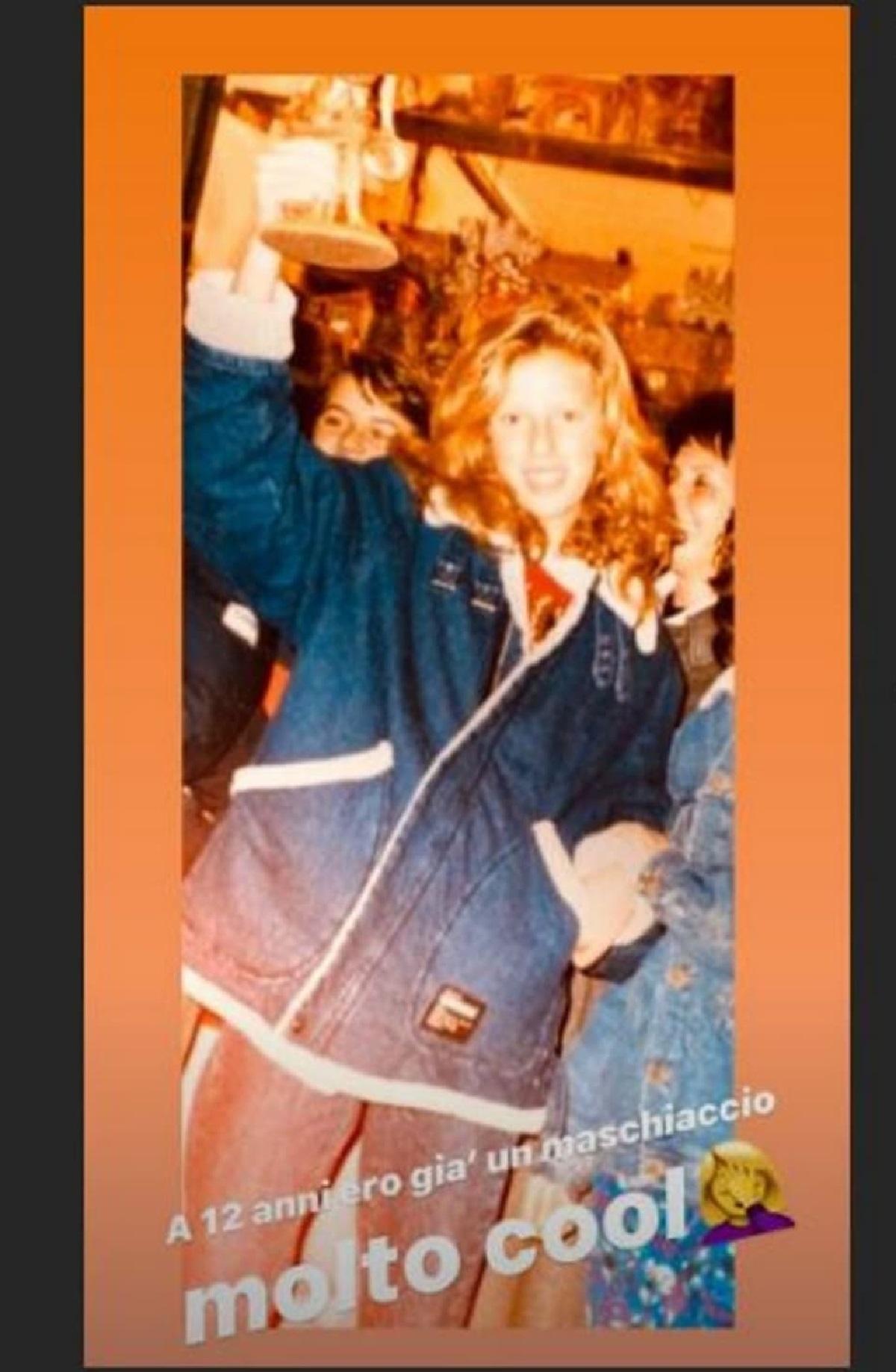 Alessia Marcuzzi una foto di quando aveva solo 12 anni