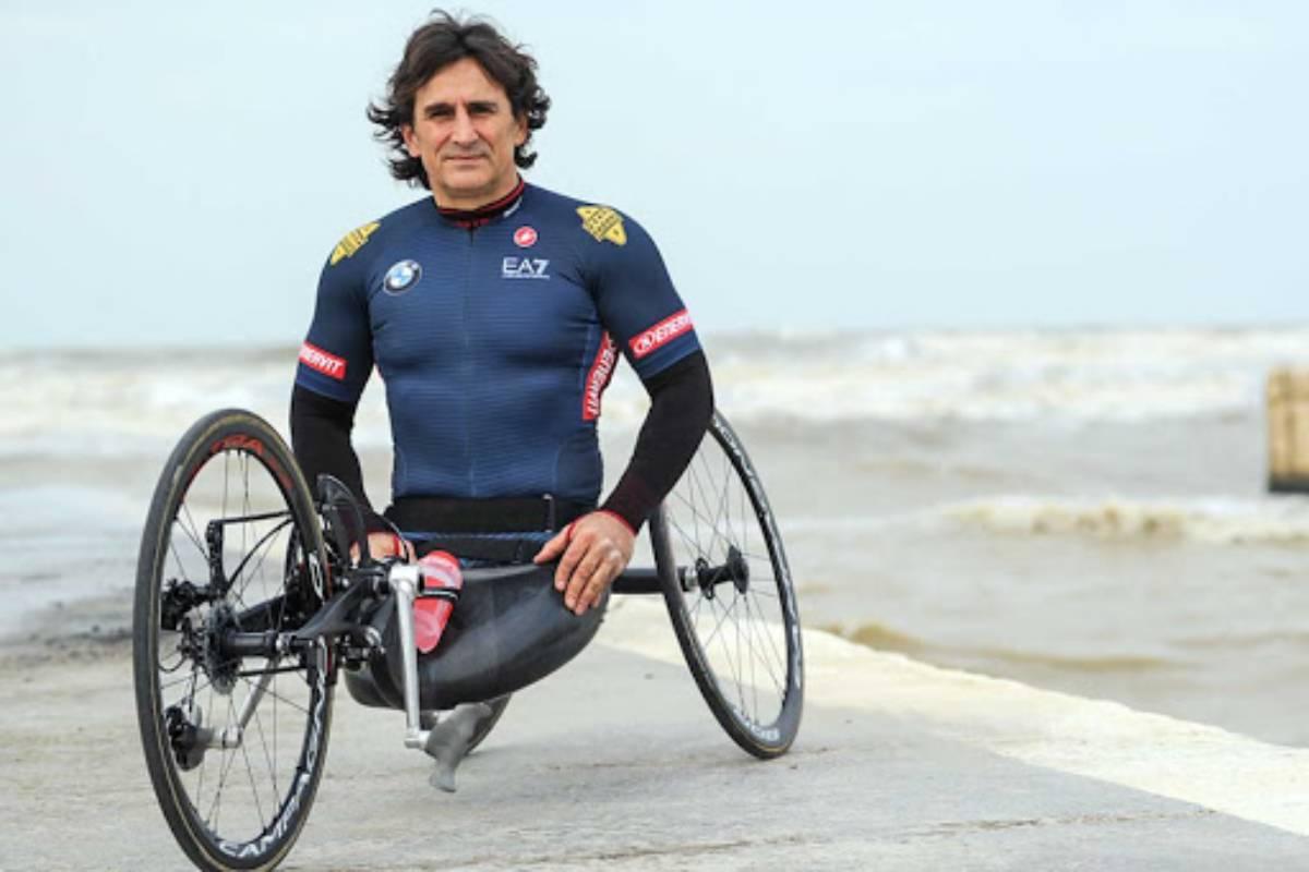 Alex Zanardi con la handbike