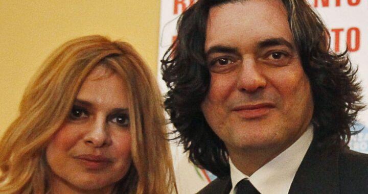 Debora Caprioglio e il marito