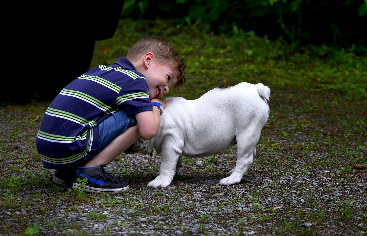 La felicità di crescere con un cane