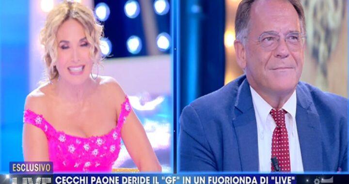 Barbara D'Urso contro Cecchi Paone