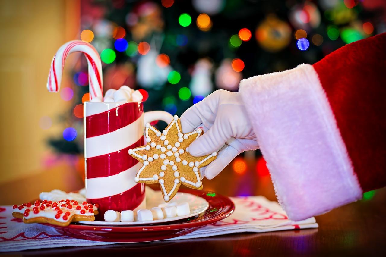 Babbo Natale e i dolcetti natalizi