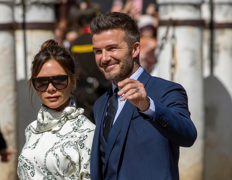 Victoria Adams e il marito David