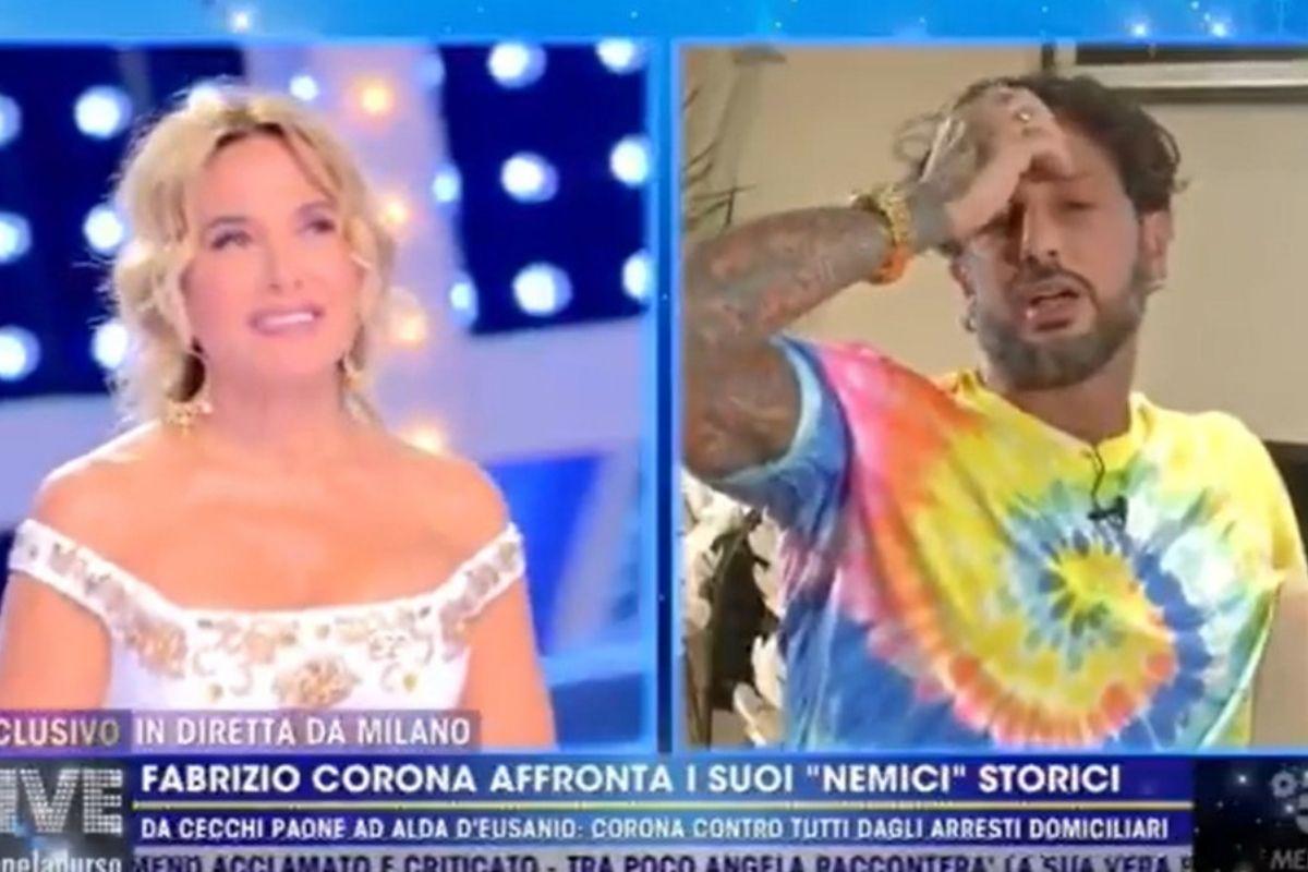 Fabrizio Corona a Live