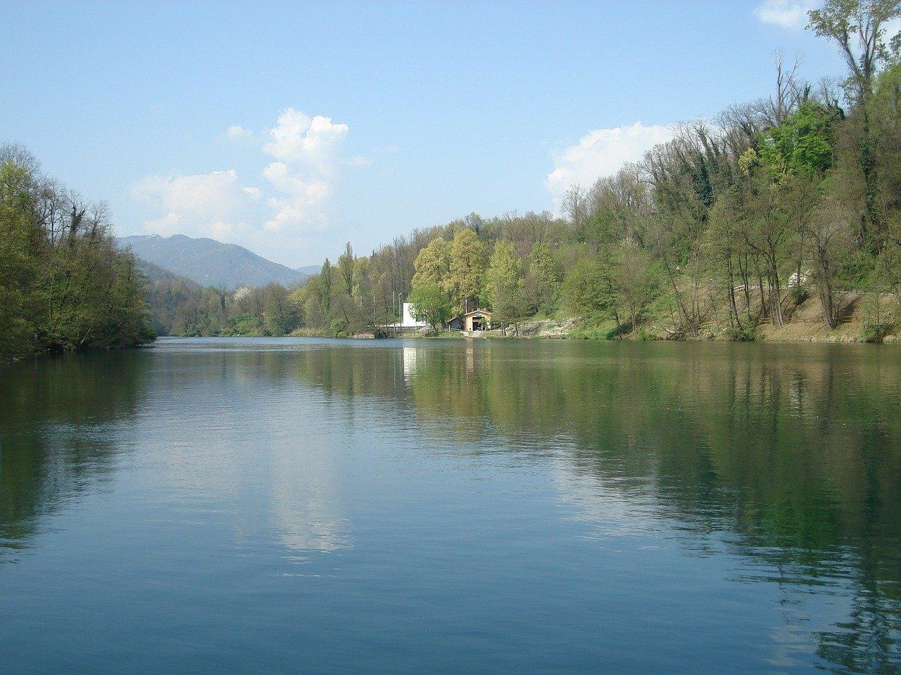 Il fiume Adda in Italia
