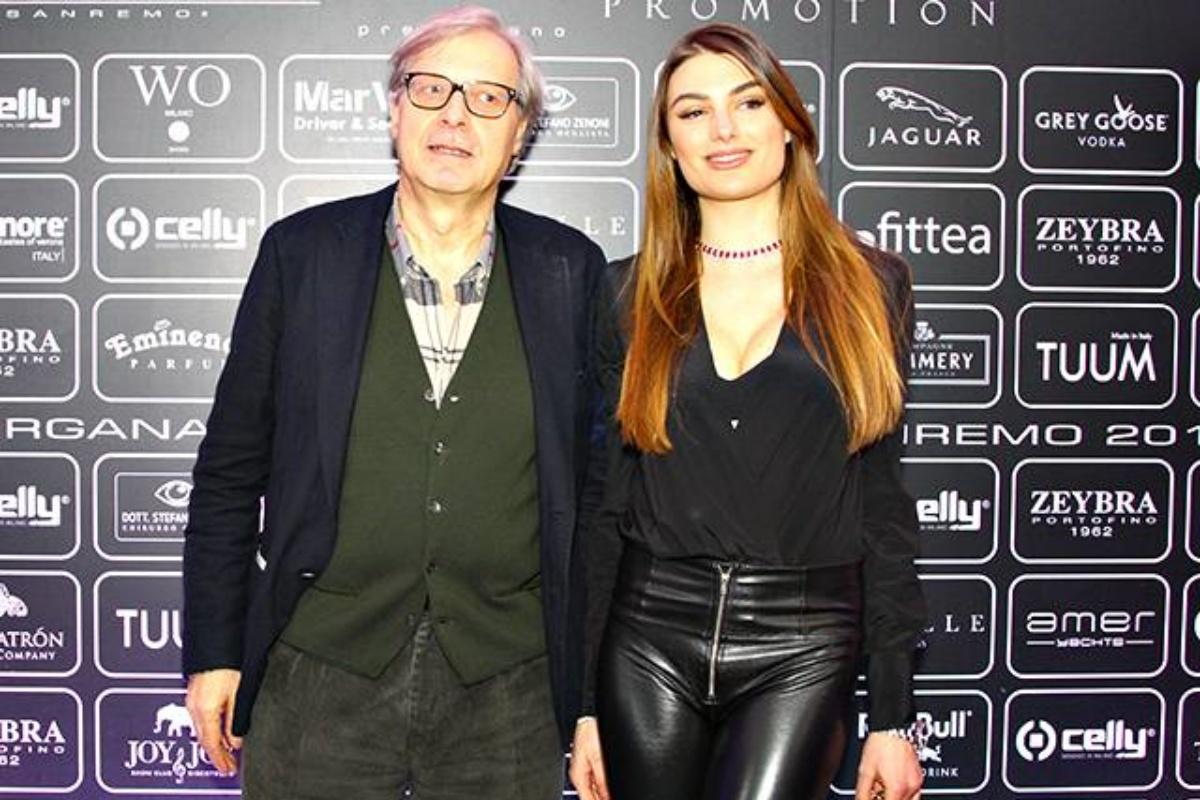 Vittorio Sgarbi e l'ex fidanzata