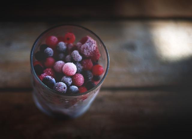 frutti di bosco da surgelare