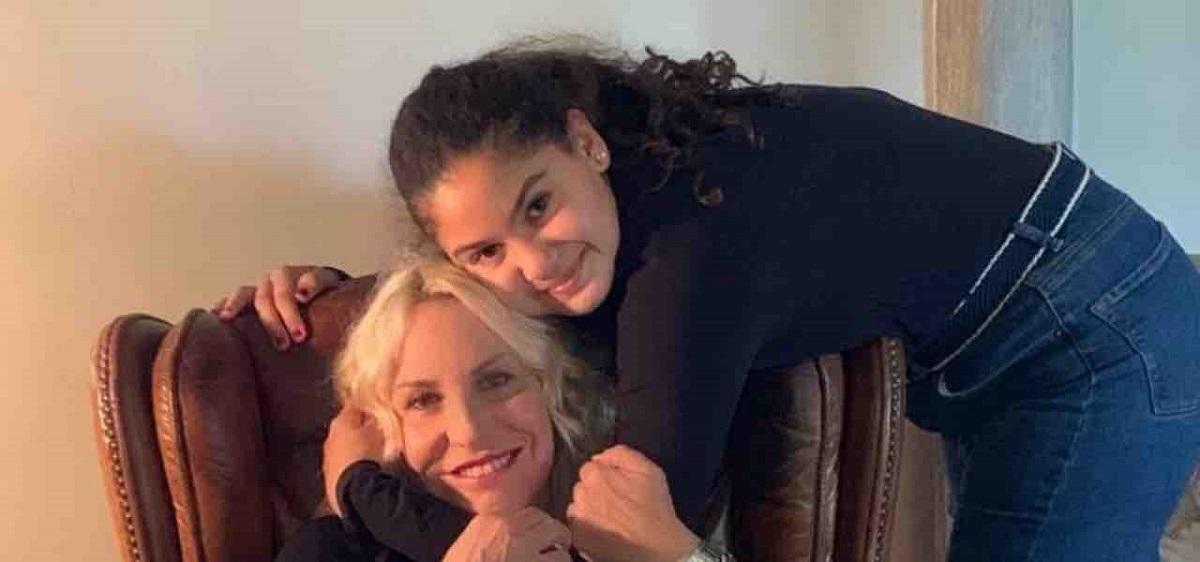 Antonella Clerici e la figlia