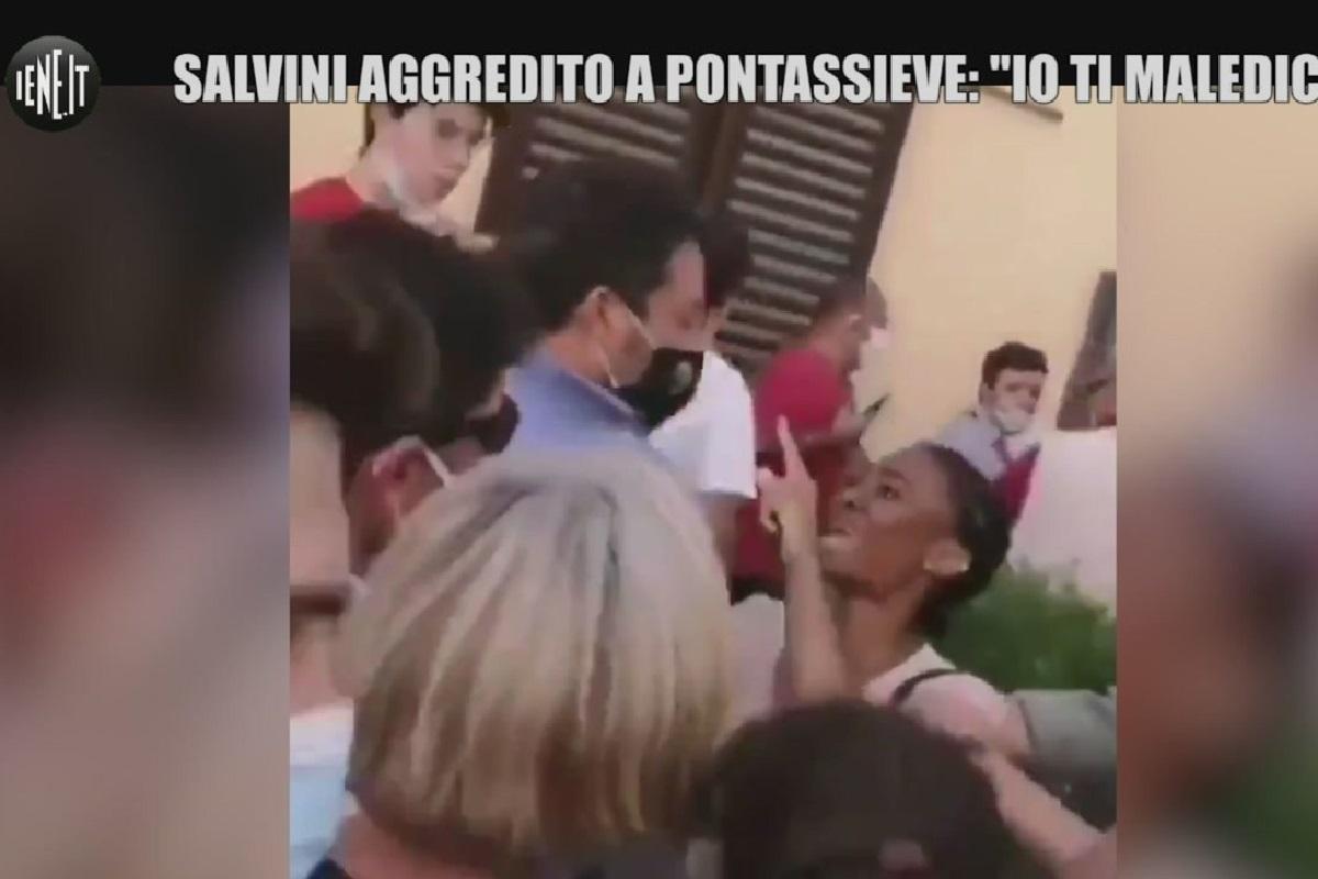 Matteo Salvini viene aggredito
