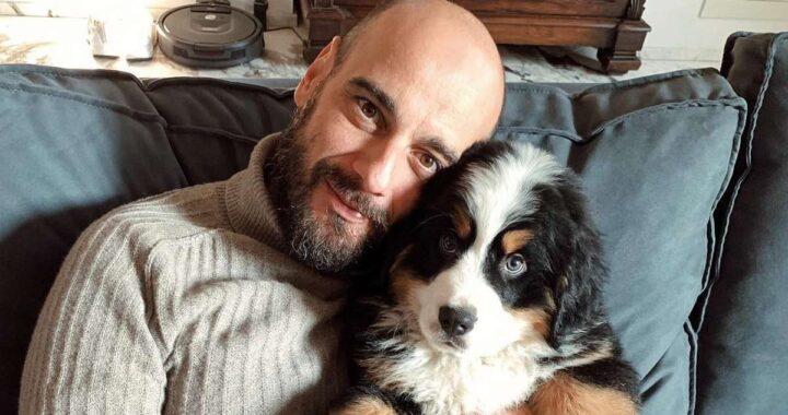 Riccardo Serpellini con il suo cane