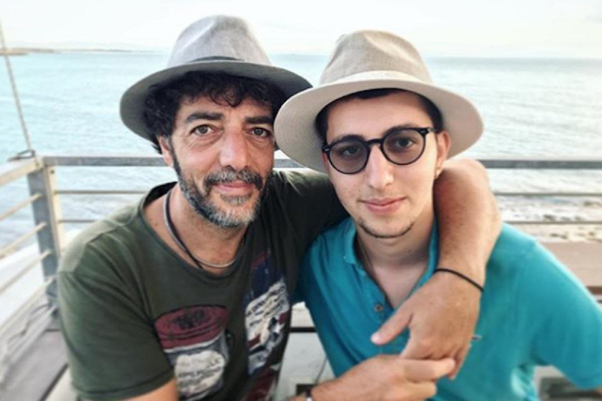 Max Gazzè e il figlio