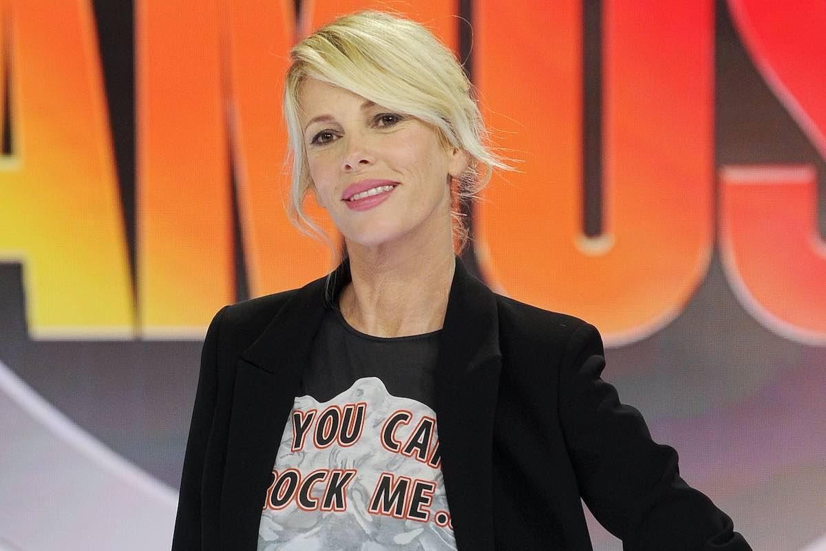 Alessia Marcuzzi alla presentazione dei palinsesti Mediaset