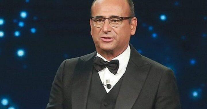 Carlo Conti sul palco