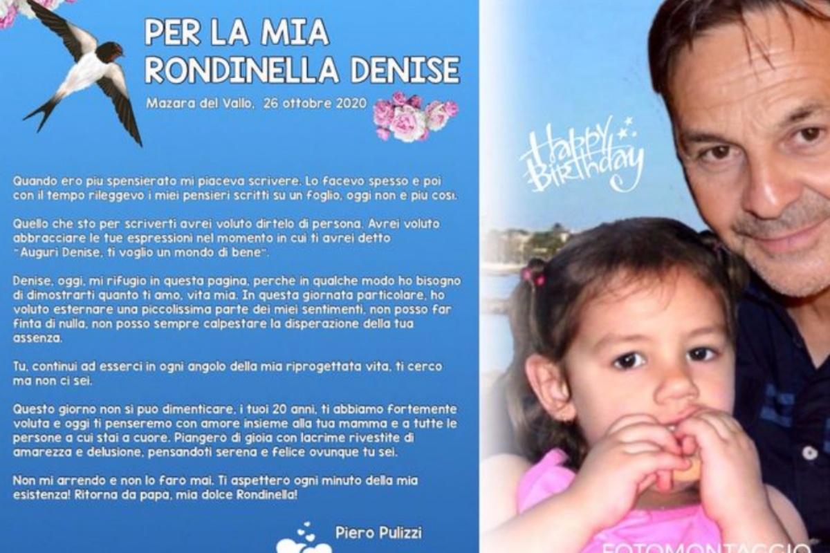 La lettera di auguri del papà di Denise Pipitone