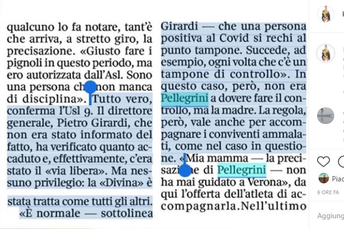 La polemica su Federica Pellegrini
