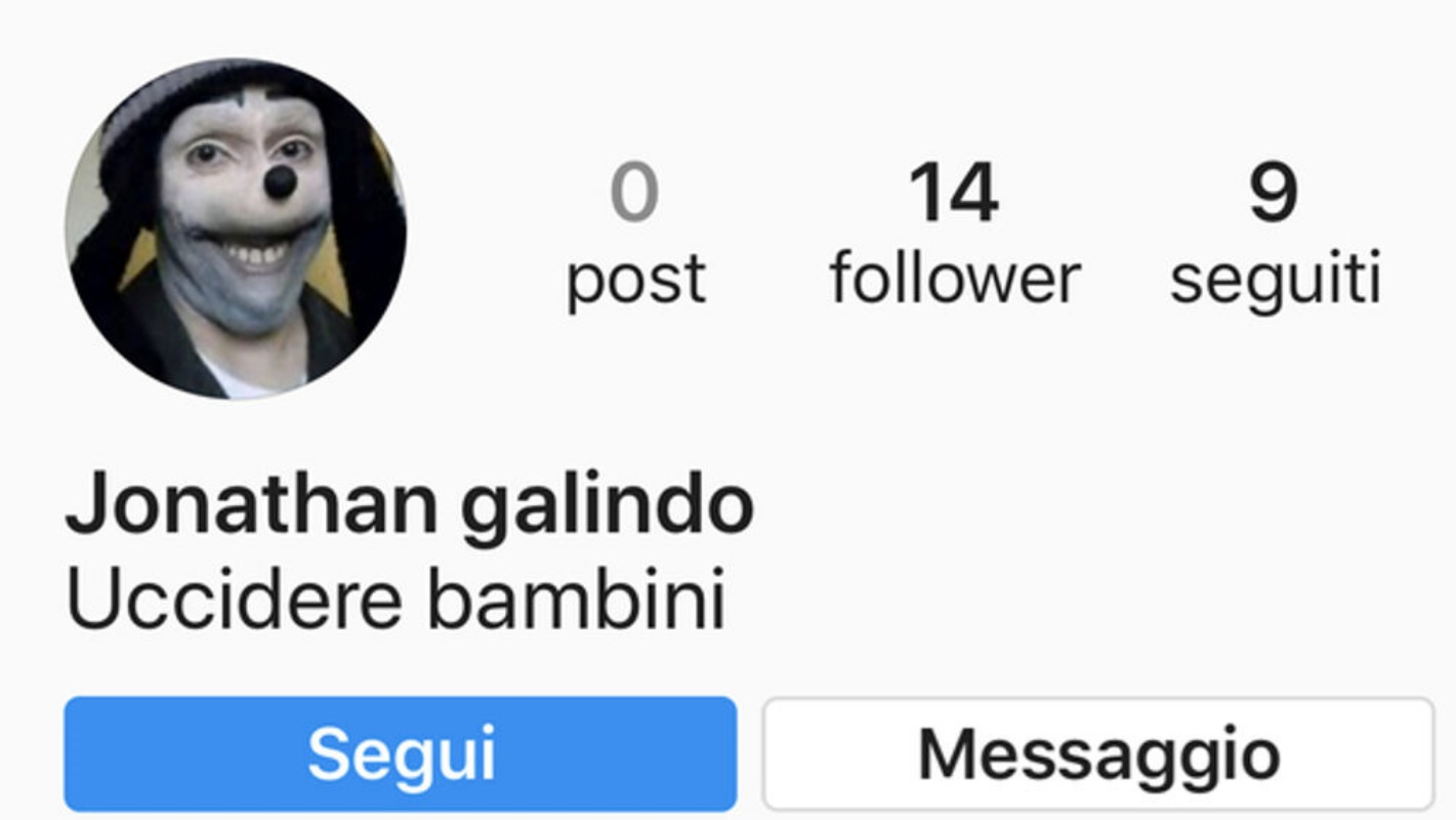 Jonathan Galindo, l'incubo social