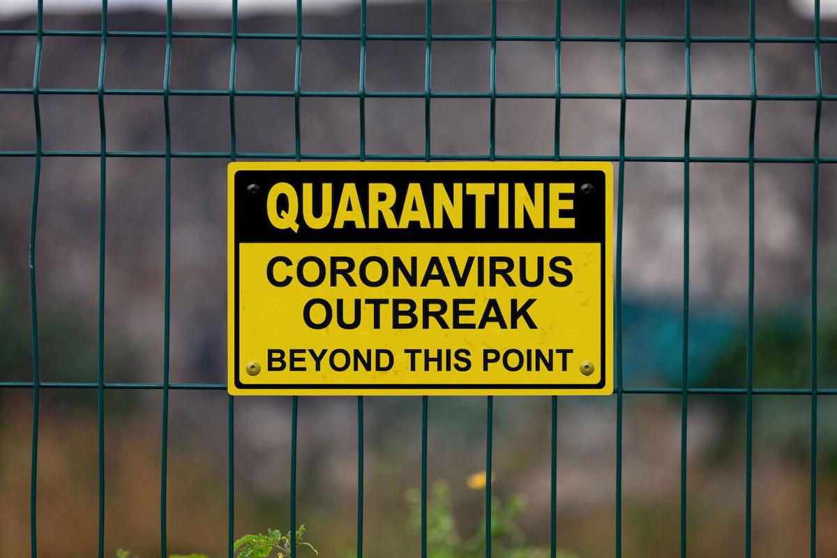 Avviso di quarantena