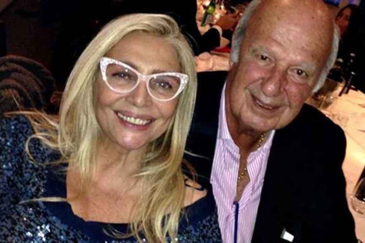 Mara Venier e Nicola Carraro felici