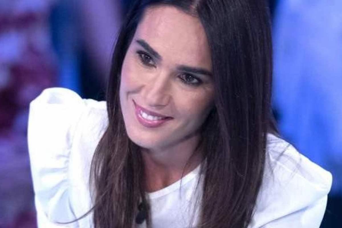 Silvia Toffanin che sorride
