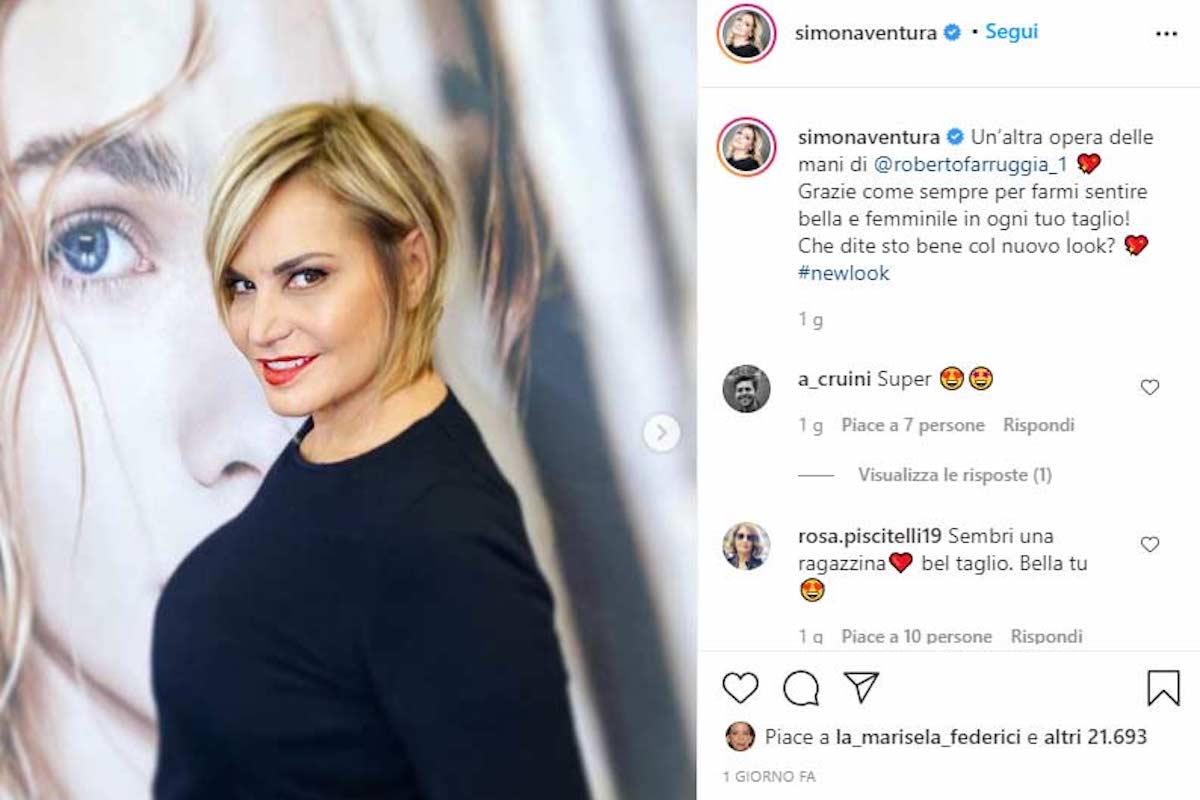 Il nuovo taglio di Simona Ventura
